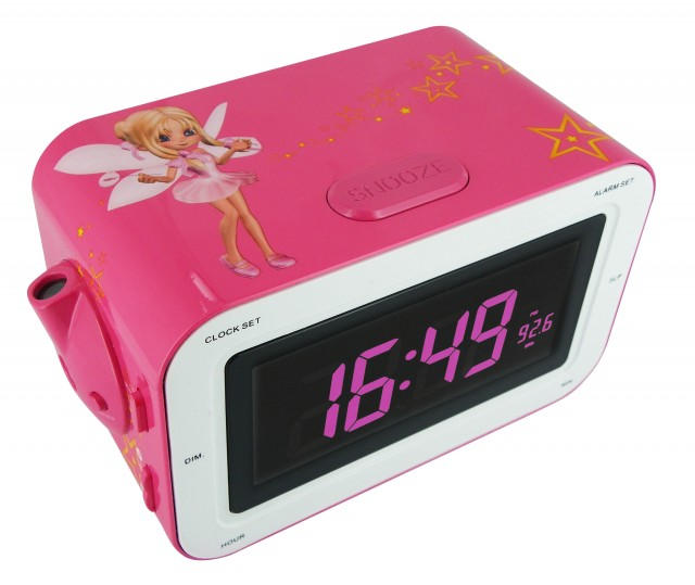 Radio Sveglia KIDS rosa con fata - Packshot