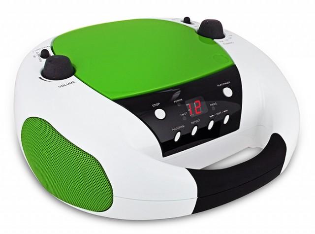 Radio CD portatile CD52 (Bianca e Verde) - Packshot