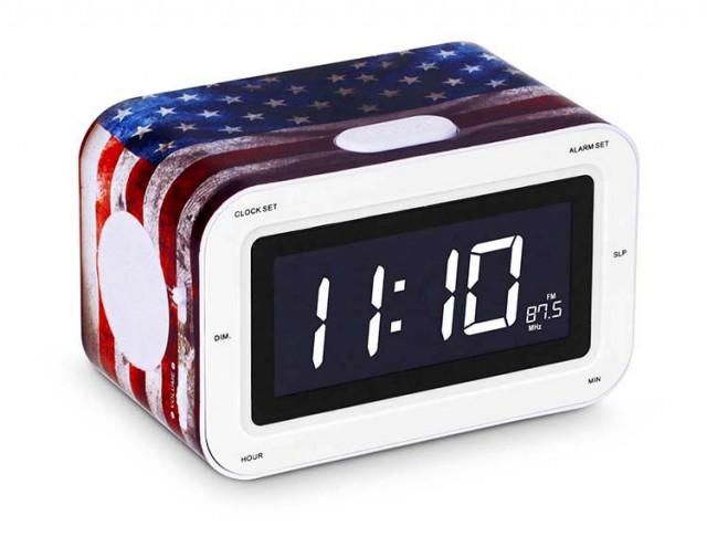 "Radiosveglia con doppio allarme ""USA"" - Packshot"