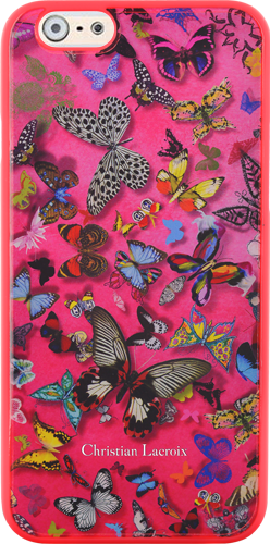 "CHRISTIAN LACROIX Hard case ""Butterfly Parade"" (Grenadine) - Packshot"