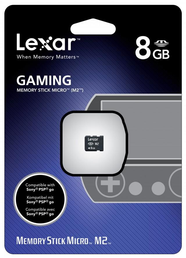 Carte Mémoire 8GB Lexar pour PSP™go - Packshot