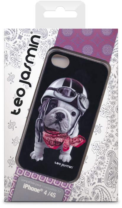 Téo Jasmin Racing Black hard case for iPhone© 4/4S - Packshot