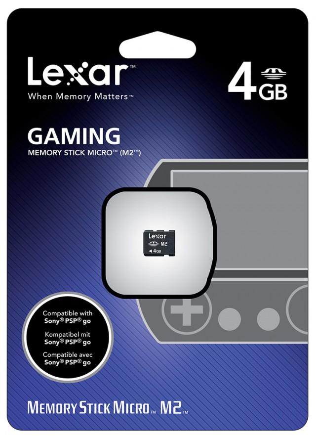 Carte Mémoire 4GB Lexar pour PSP™go - Packshot