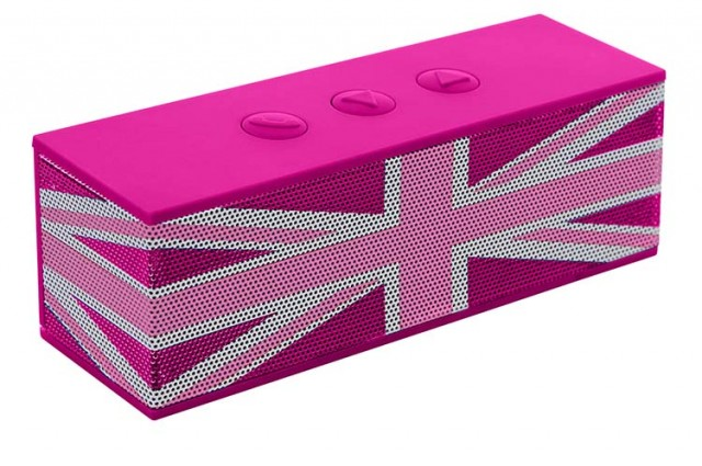 "Bluetooth® speaker ""Union Jack"" (Pink) - Packshot"