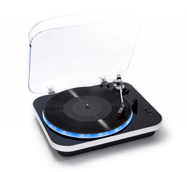 Record player-encoder with lighting (Black) - Packshot