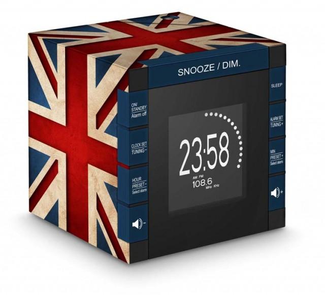 "Radio Alarm Clock Projector ""Union Jack"" – Immagine #1"