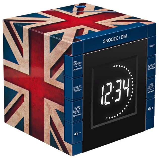 "Radio Alarm Clock Projector ""Union Jack"" - Packshot"