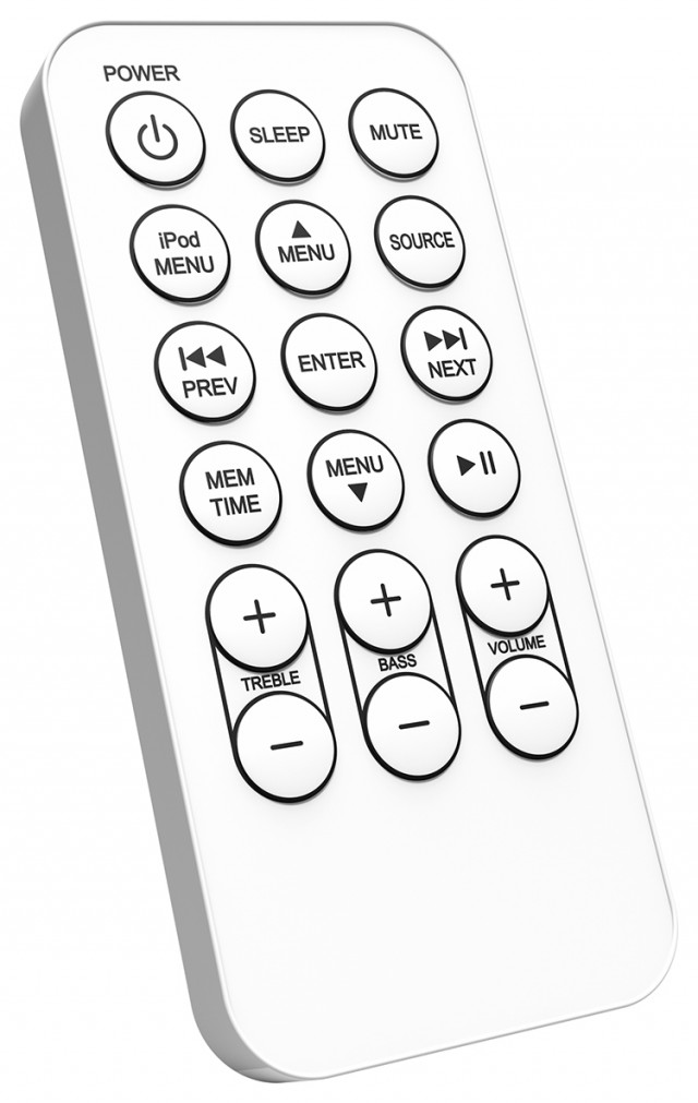 Multimedia Tower 'Wood' (White) – Immagine #1