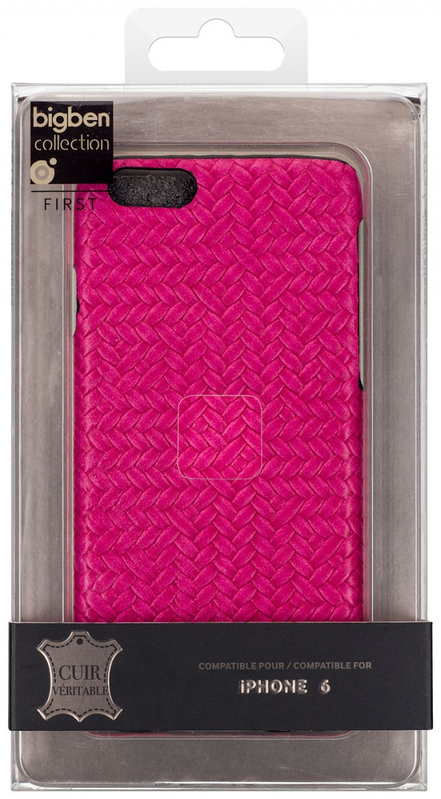 Hard Case 'Braided Leather' (Pink) – Immagine