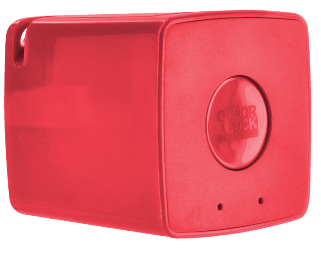 COLORBLOCK Mini Bluetooth® Speaker (Red) - Packshot