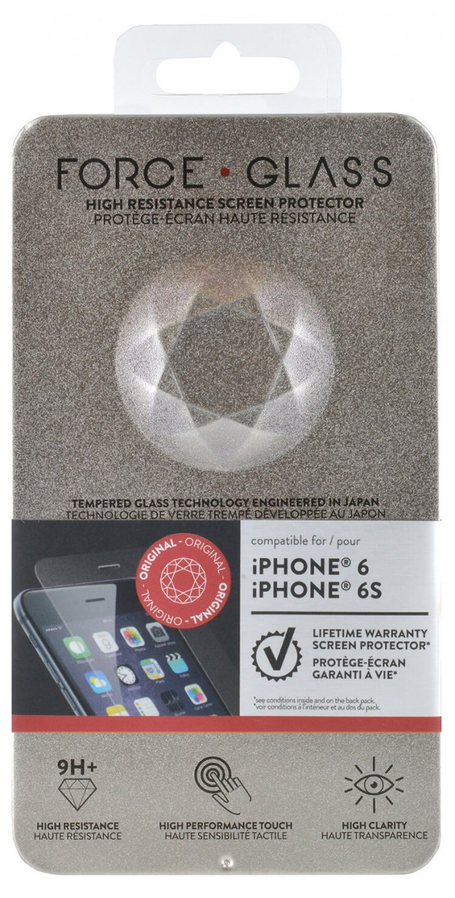 The tempered glass screen protector FORCE GLASS (originale) – Immagine