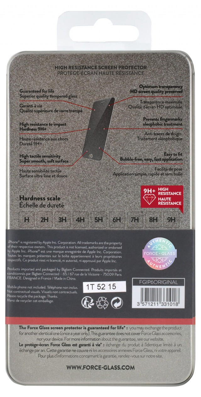 The tempered glass screen protector FORCE GLASS (originale) – Immagine #1