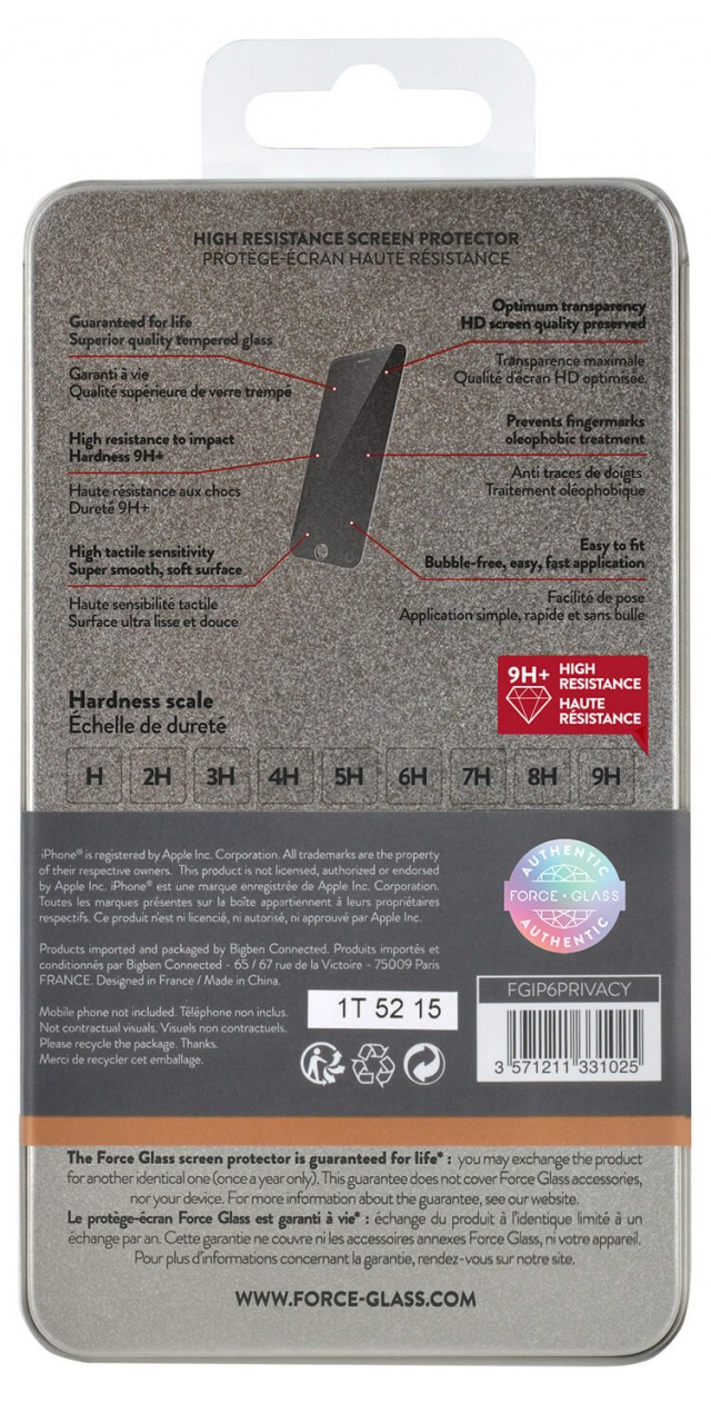 The tempered glass screen protector FORCE GLASS (private) – Immagine #1