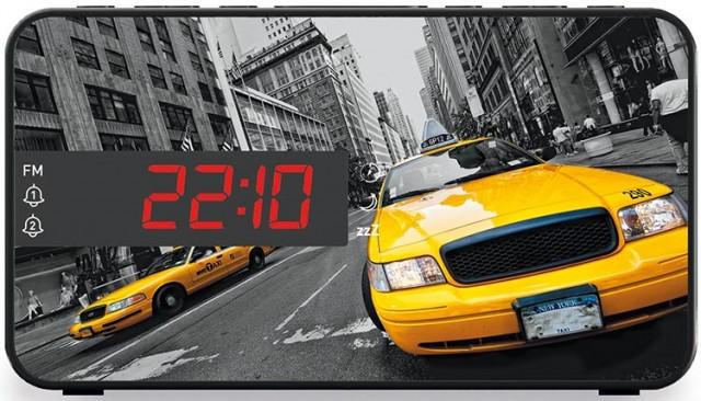 Radiosveglia doppio allarme Taxi – Packshot