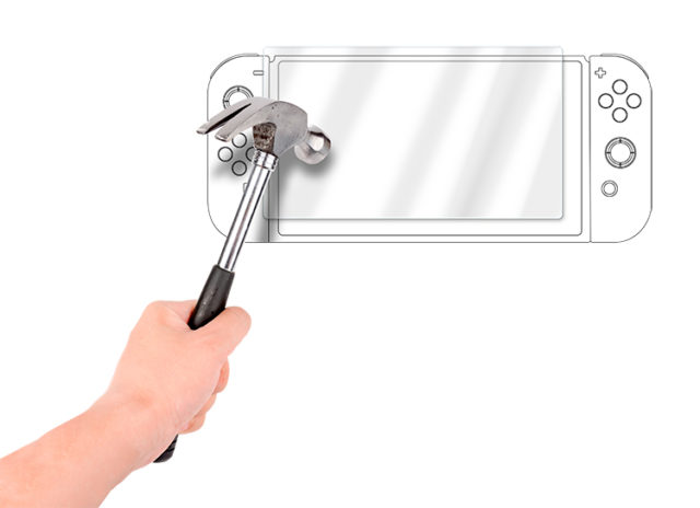 Proteggi schermo in vetro temperato per tablet Nintendo Switch™ – Immagine#1