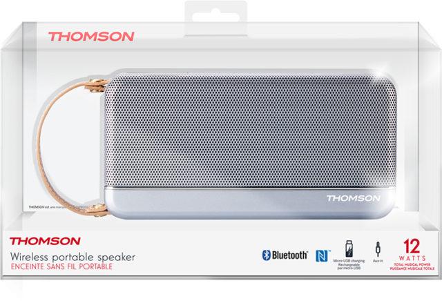 THOMSON Speaker Wireless Portatile (argento) – Immagine#2tutu