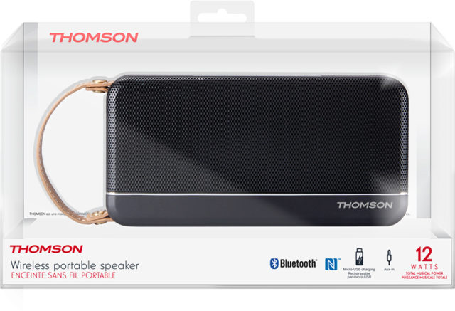 THOMSON Speaker Wireless Portatile (nero satinato) – Immagine#2tutu