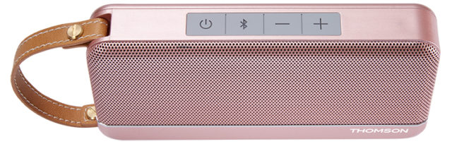 THOMSON Speaker Wireless Portatile (rosa metallico) – Immagine#1