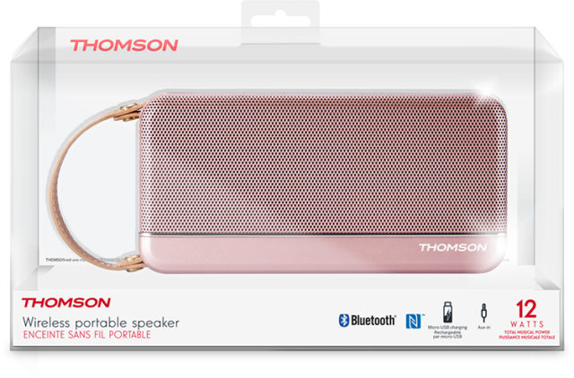 THOMSON Speaker Wireless Portatile (rosa metallico) – Immagine#2tutu