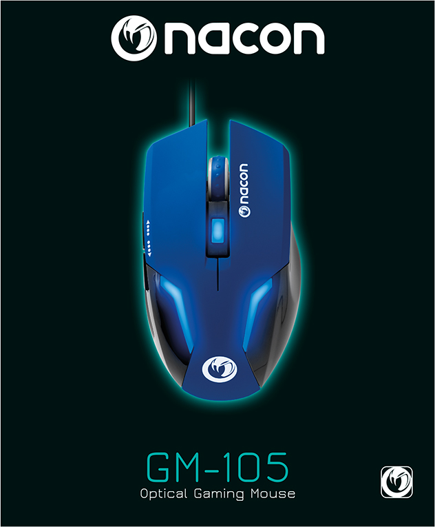 Nacon Optical Mouse (Blue) – Immagine#1