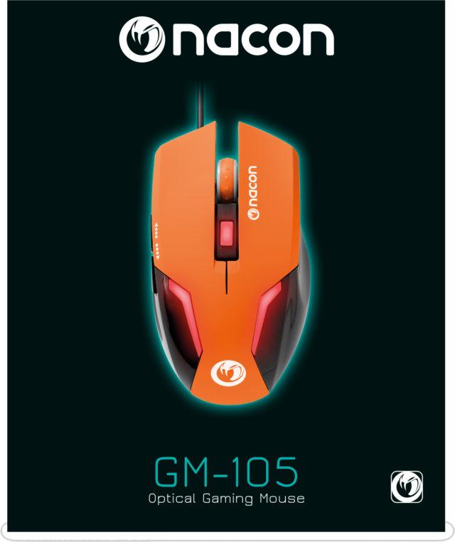 Nacon Optical Mouse (Orange) – Immagine#1