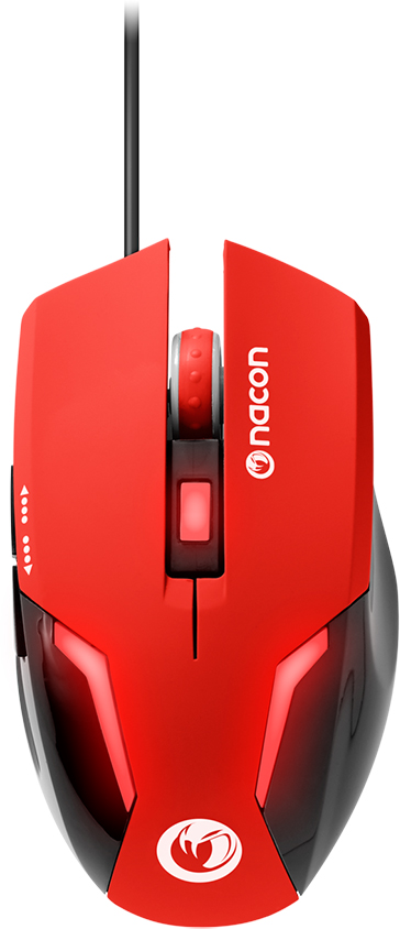 Nacon Optical Mouse (Red) – Immagine