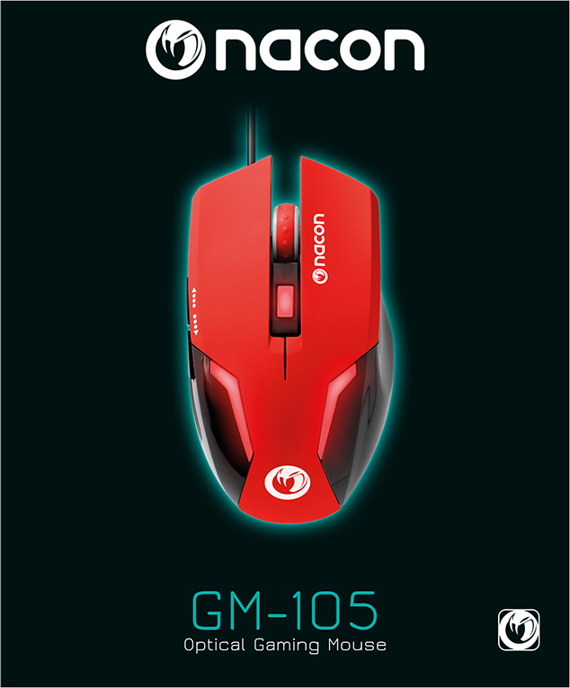 Nacon Optical Mouse (Red) – Immagine#1
