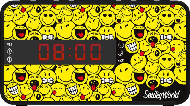 Radiosveglia doppio allarme Smiley© – Immagine