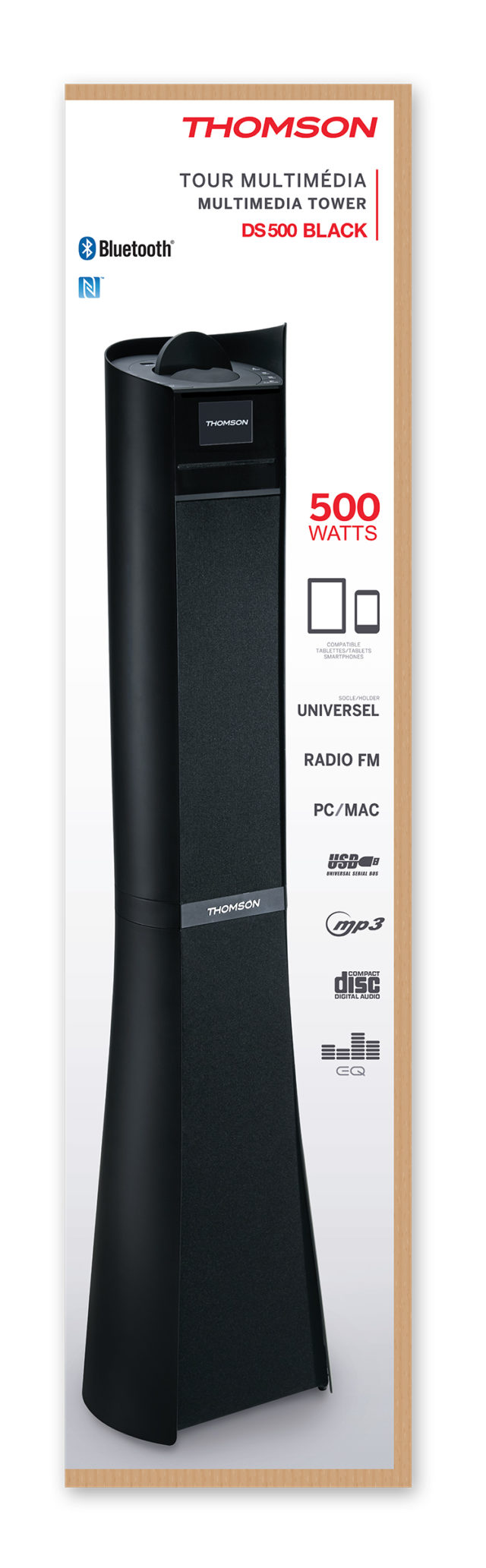 2.1CH Multimedia tower DS500BLACK THOMSON – Immagine#2tutu
