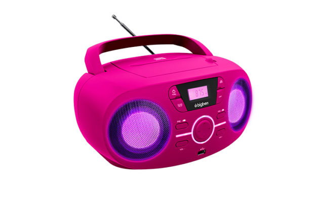 Portable CD/USB player with light effects CD61RUSB BIGBEN – Immagine