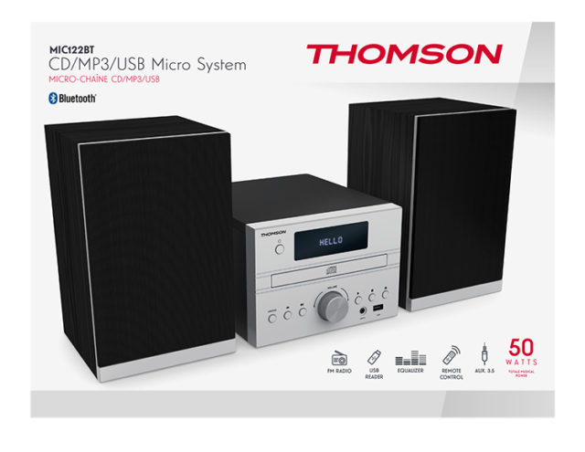 CD/MP3/USB Micro system MIC122BT THOMSON – Immagine#2tutu