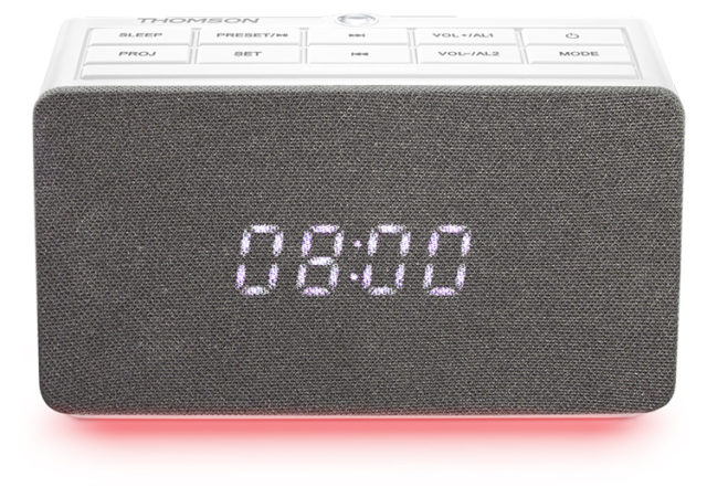 Alarm clock radio with projector CL301P THOMSON – Immagine