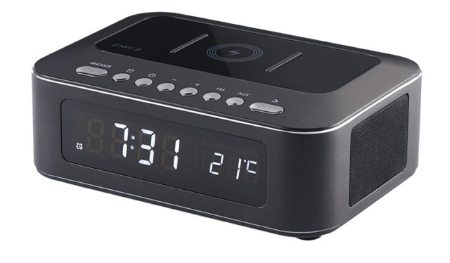Clock radio with wireless charger CR400IBT THOMSON – Immagine