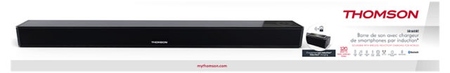 Soundbar with wireless induction* charging for mobiles SB160IBT THOMSON – Immagine