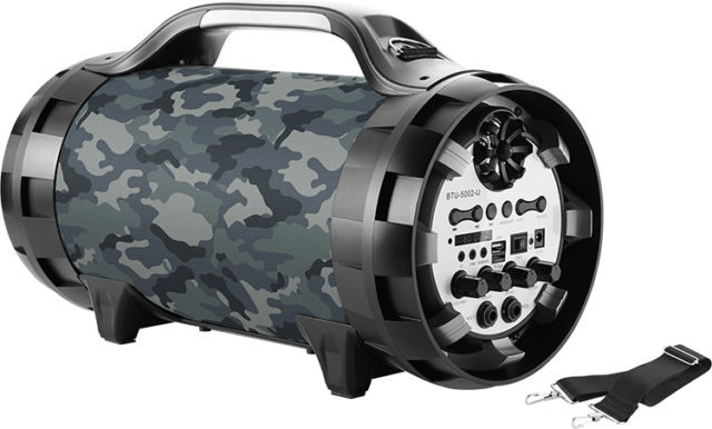 Wireless Ghetto Blaster with lights BT50ARMY BIGBEN – Packshot