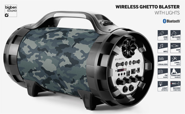 Wireless Ghetto Blaster with lights BT50ARMY BIGBEN – Immagine#2tutu#4tutu#5