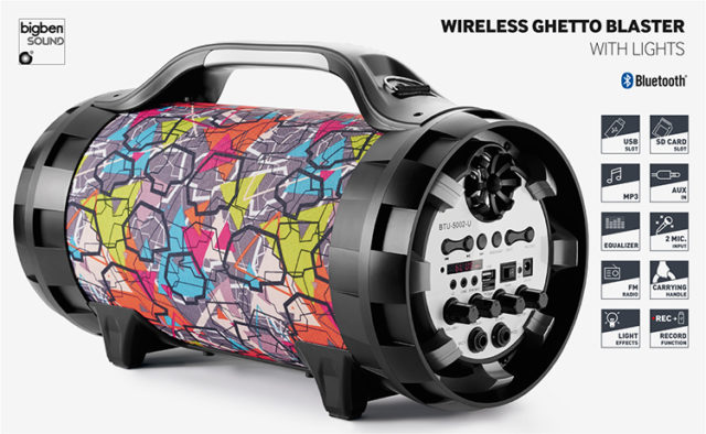 Wireless Ghetto Blaster with lights BT50GRAFF BIGBEN – Immagine#2tutu#4tutu#5